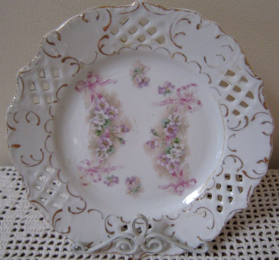 Pierced Plate, Pink and Violet