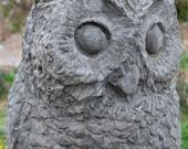 Concrete Owl Statue