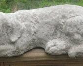 Large Labrador Retriever Dog Concrete Sleeping Statue