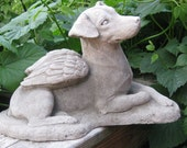 Jack Russell Terrier Angel Dog Concrete Statue or Memorial