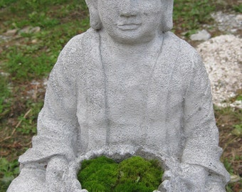 Large Concrete BUDDHA With MOSS