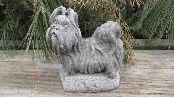 Concrete Mini Shi Tzu Dog Statue By Springhillstudio On Etsy