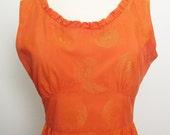 60s orange dress / 1960 dress / tangerine