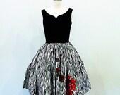 50s party dress / Rockabilly Dress / 1950s dress / 50s 60s dress / Marilyn Monroe Dress  /  Pinup / Rock n Roll