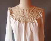 70s White Dress, 1970 Long Dress , Boho Dress