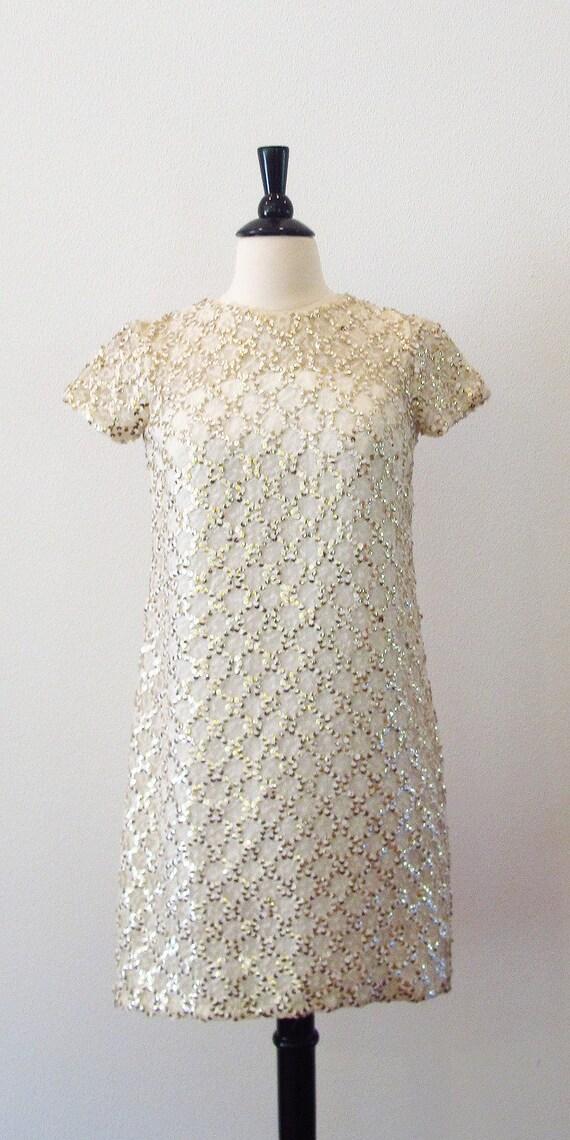 RESERVE FOR TESS 60s dress /  1960s dress / 1960 dress /  Sequin Dress / Go Go Mini dress / Party Dress