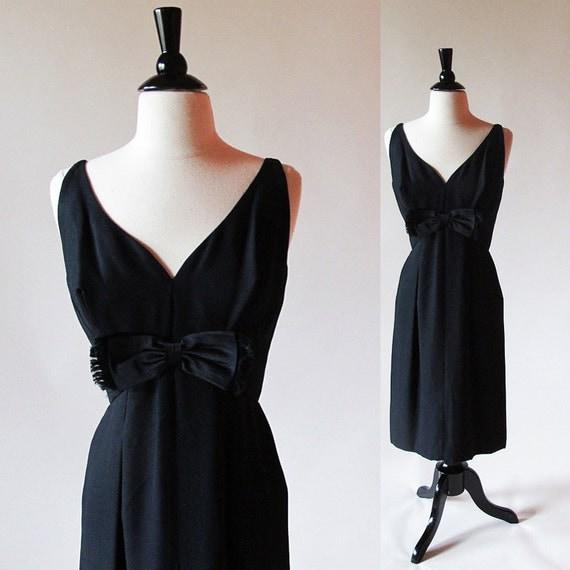 Little black dress SALE / Breakfast at Tiffany's dress / Audrey Hepburn fashion / 50s 60s dress / classic LBD