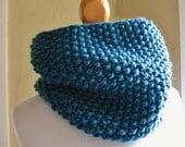 Teal Knit Cowl / Neckwarmer - CHOOSE Your Color - Beatrix Potter's - Unisex - Lit Knits