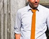 Knit Tie Groomsmen - Mustard Yellow Professor's Skinny Necktie - Wool Blend - Etsy Wedding