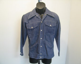 Vintage 70s Champion Denim Shirt Jacket - Size XS
