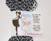 Bakers Twine - 15 Yards Black and White Twisted Twine Sugar - Packaging, Mail, Presents, Paper, Crafts