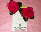 Pink Rose Hair Clips