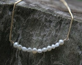 TINY PEARLS White Freshwater Pearl & 14K Gold Filled Necklace