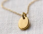 TIny Gold Pebble Necklace / Simple & Minimalist Pretty Little Gold Necklace