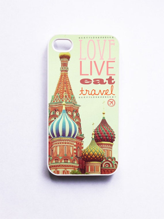 iPhone Case: Love Live Eat Travel. Wanderlust. Moscow. Travel Geeks. Saint Basil's Cathedral. iPhone 4/4S Case. iPhone 5 Case. READY-TO-Ship