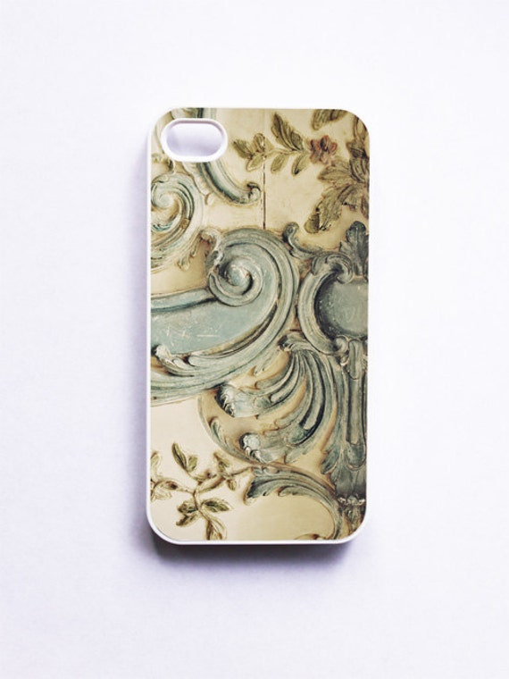 iPhone Case: Blue Lace. French Rococo. Versailles Paris. Marie Antoinette. iPhone 4/4S Case. iPhone 5 Case. READY-TO-Ship