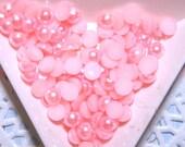 BLOWOUT SALE Light Coral flatback pearls 6mm - 250 pcs
