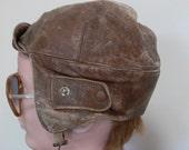Vintage Leather Flying Helmet