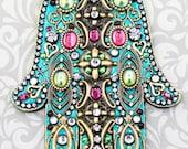 Turquoise  Decorative Wall Hamsa