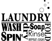 Wall Safe Decal Vinyl Lettering Custom Personalized Stickers Removable Adhesive Quotes Laundry Room Word Collage
