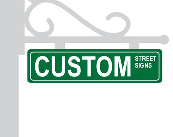 Metal Street Sign Custom Green Personalized Gift Unique Wedding Table Centerpieces Numbers
