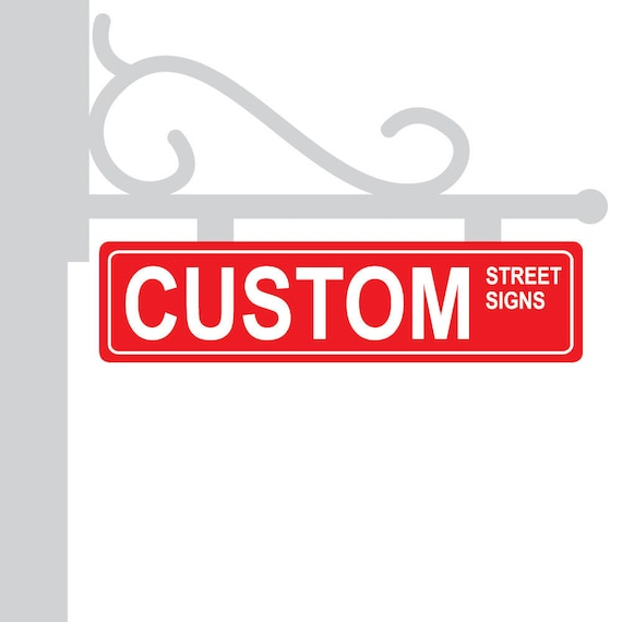 Metal Street Sign Custom Red Personalized Gift Unique Wedding Table Centerpieces Numbers
