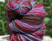 Sunset: 135 yds Hand Spun Sock Yarn
