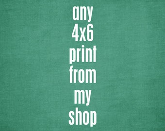 One 4x6 print - your choice