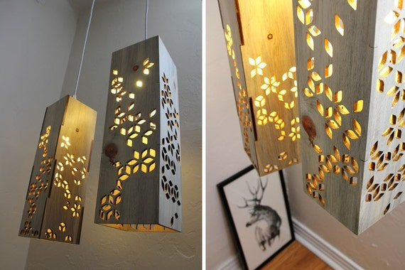 Hanging Lamp : Beetle Kill Pine