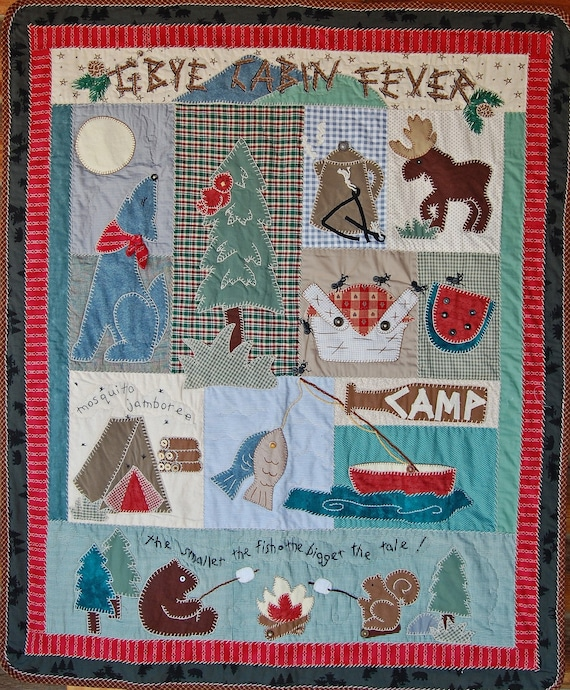 Shed cabin fever with this outdoorsy Gone Campin' quilt pattern