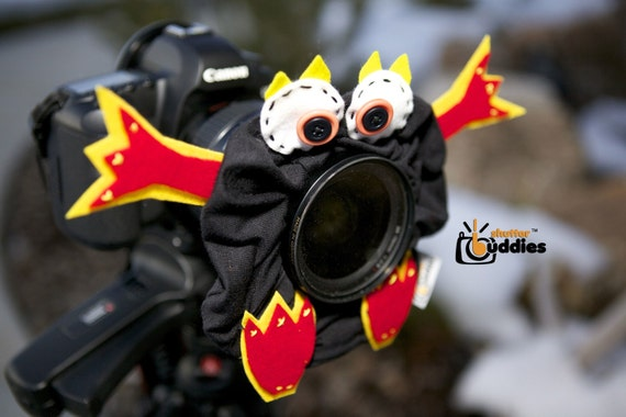 Shutter Buddies Randy RAPTOR with SQUEAKER camera bling for lens- Ready to ship