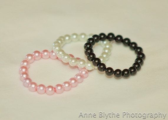 Baby Pearl Bracelet- Set of 3 Gift Boxed Perfect For Any Special Occasion PIck Your Own Colors