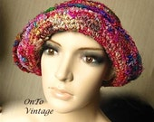 Crocheted Silken Nepalese, Multicolored Hat