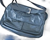 Shoulder Bag By Tignanello Black Leather with Generous Pockets