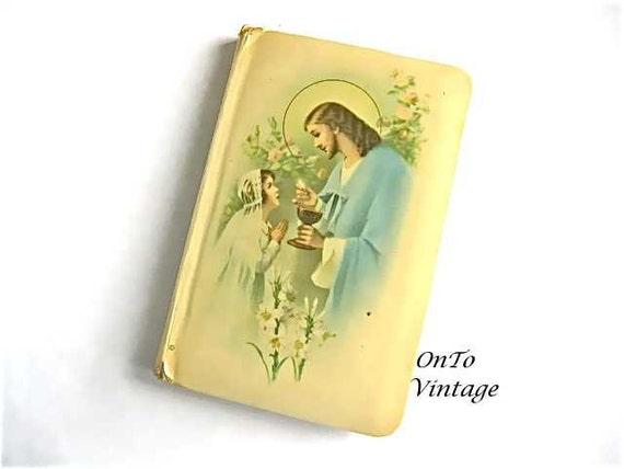 Vintage First Communion, Come My Jesus, Child Prayer Book