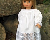 Elizabeth Lace Insertion Nightgown Pattern for 18 Inch American Girl Dolls - IF-0001