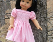 Downloadable Helen Smocked Doll Dress Pattern for 18 Inch American Girl Dolls - IF-Helen-D-Etsy