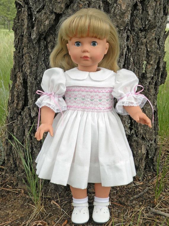 Doll Dress Pattern Kaela features smocking - fits 18 Inch American Girl Dolls - IF-Kaela-P-Etsy
