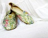 Daniel Green Vintage Brocade Slippers