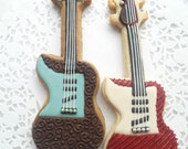 Electric Guitar Sugar Cookies