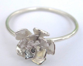 Cut Out Flower Ring Sterling Silver