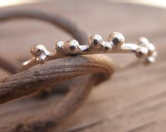 Small Bubble Ring Silver Balls