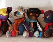 Fabric bear OOAK patchwork: Once upon a time/Había unha vez...