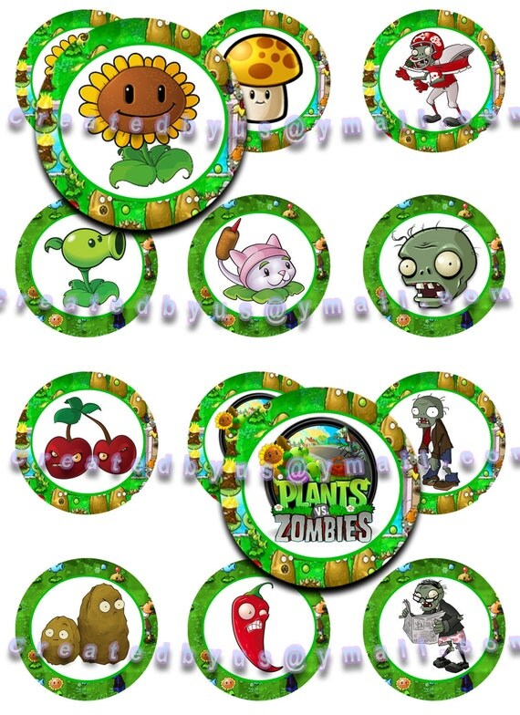 Plants Vs Zombies Edible Cake Toppers