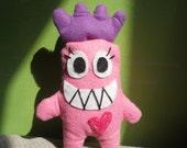 Pink Gremlin Love Plush by Joey Ahlbum