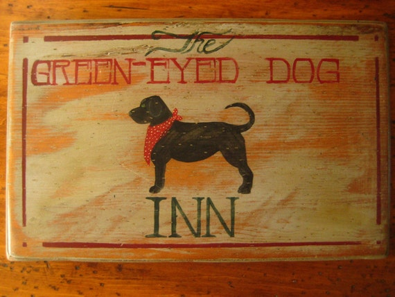 Reproduced Primitive Pine Old English Pub Sign