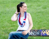 Summer Scarf/ 4 July Fourth/ 14 Juillet/ 12th July/ Flag Scarf - navy, nautical, patriotic, memorial Independence Day by Solandia