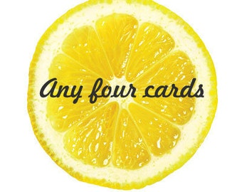 Any 4 Lizzy Lemon Cards