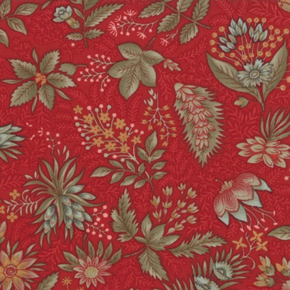 1 yard Etchings floral on rosewood by 3 Sisters for moda fabrics