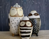 Ceramic Owl Canister Set - Made to order